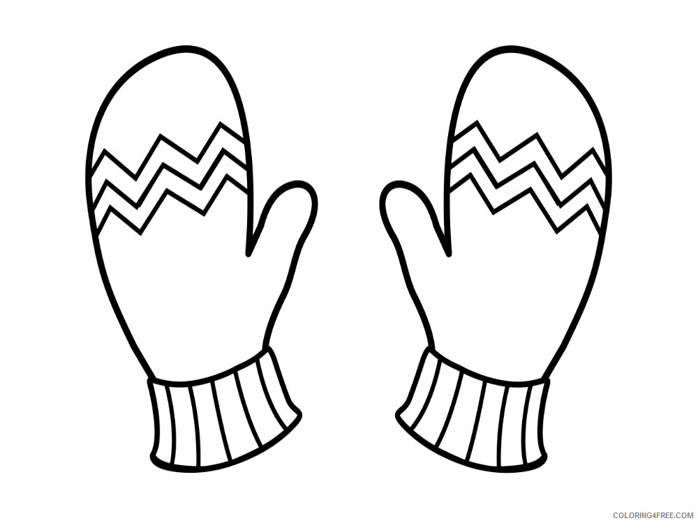 Mittens Coloring Pages for Kids mittens 7 Printable 2021 457 Coloring4free