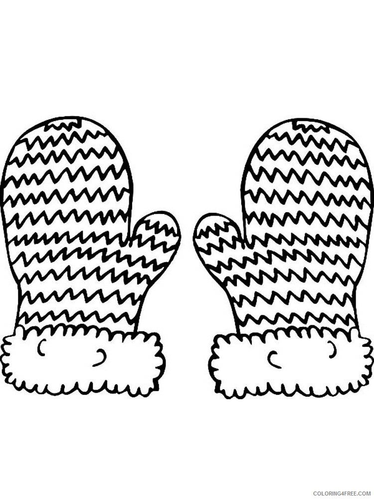 Mittens Coloring Pages for Kids mittens 8 Printable 2021 458 Coloring4free