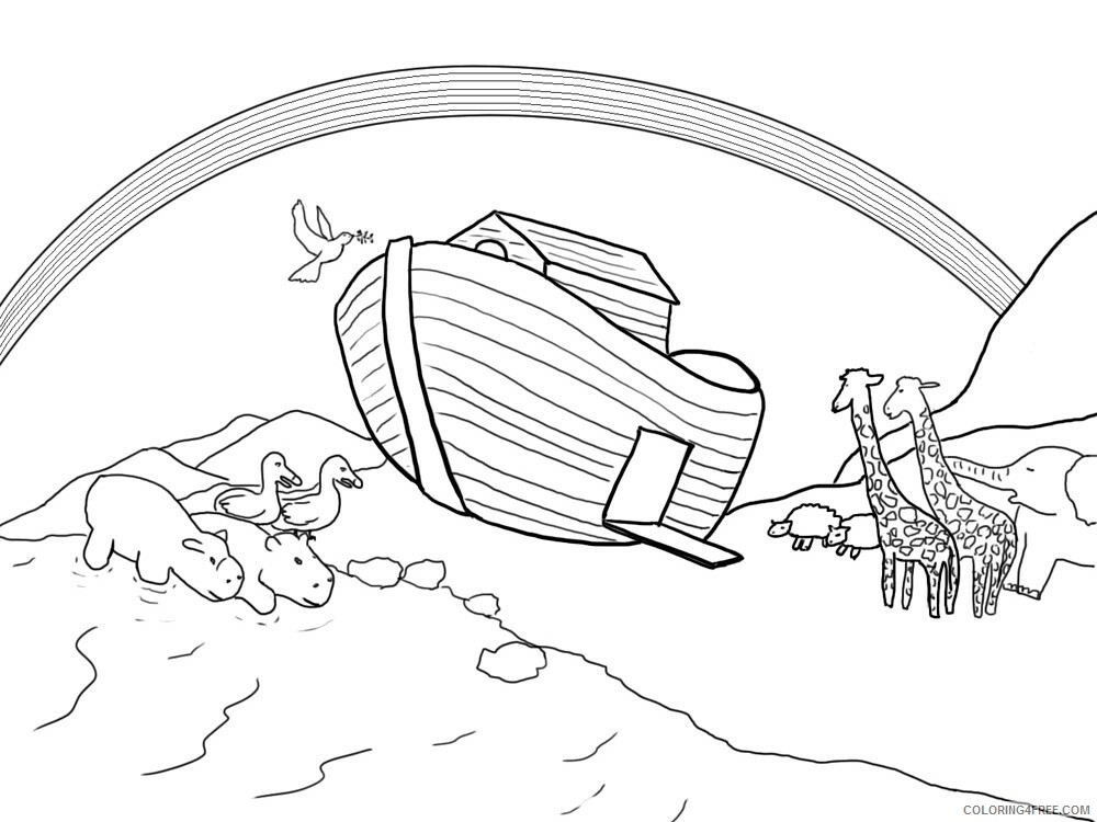 Noahs Ark Coloring Pages for Kids Noahs Ark 1 Printable 2021 467 Coloring4free
