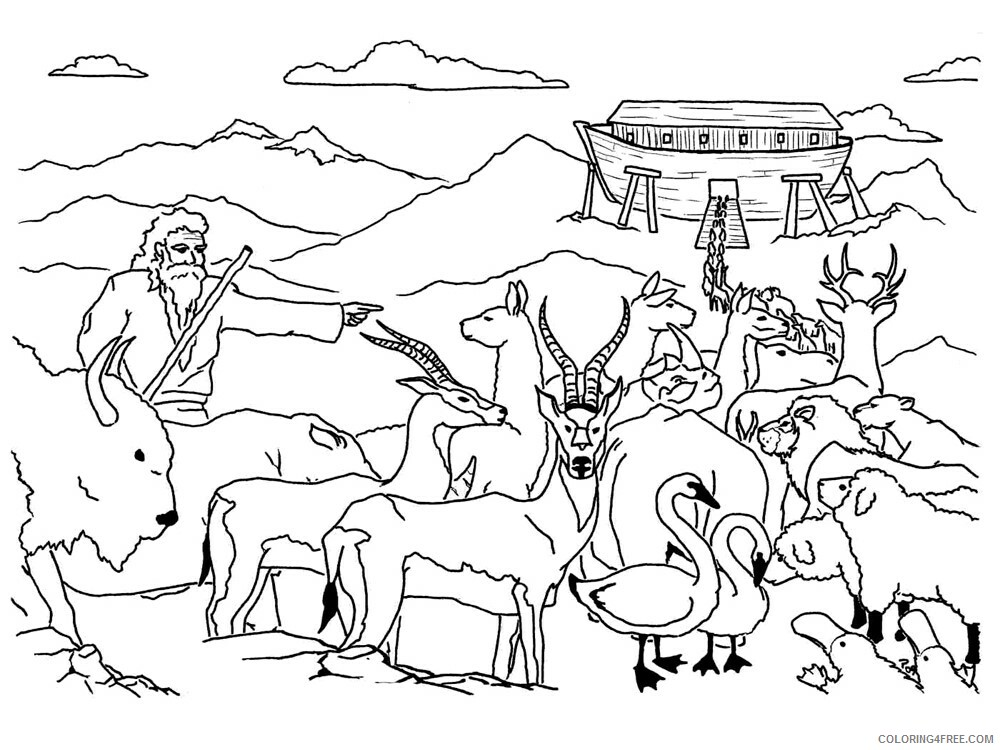 Noahs Ark Coloring Pages for Kids Noahs Ark 7 Printable 2021 475 Coloring4free