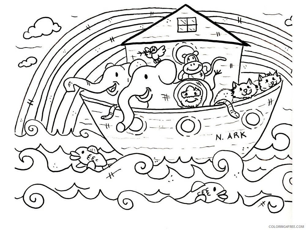 Noahs Ark Coloring Pages for Kids Noahs Ark 9 Printable 2021 476 Coloring4free
