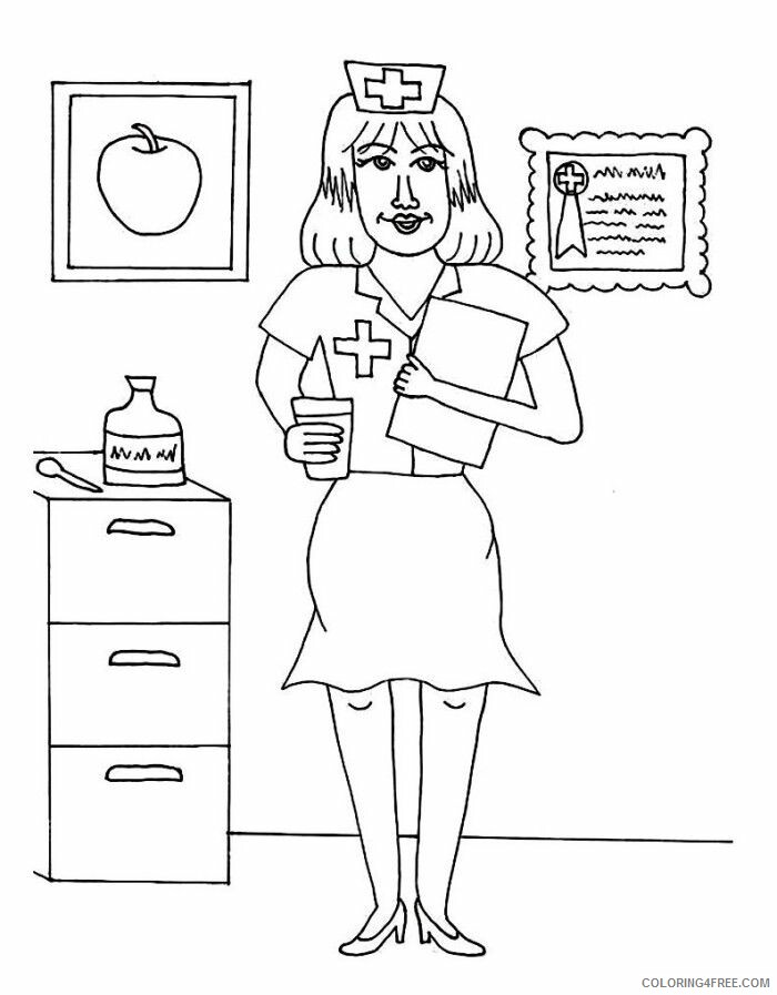 Nurse Coloring Pages for Kids Color Nurses Printable 2021 478 Coloring4free