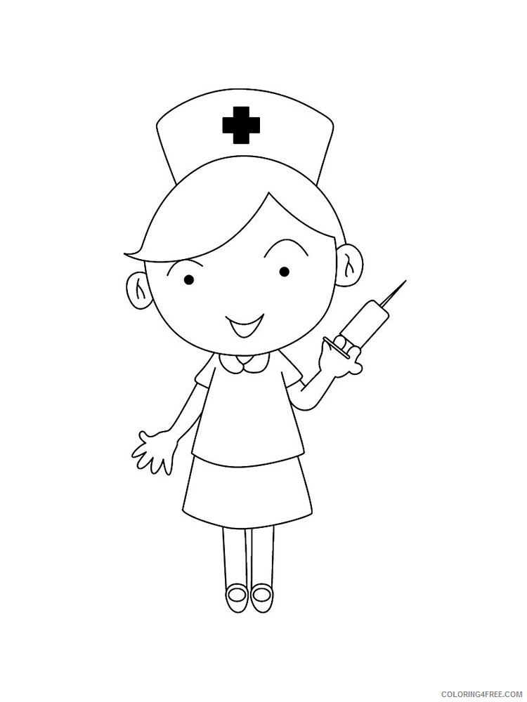 Nurse Coloring Pages for Kids Nurse 1 Printable 2021 485 Coloring4free
