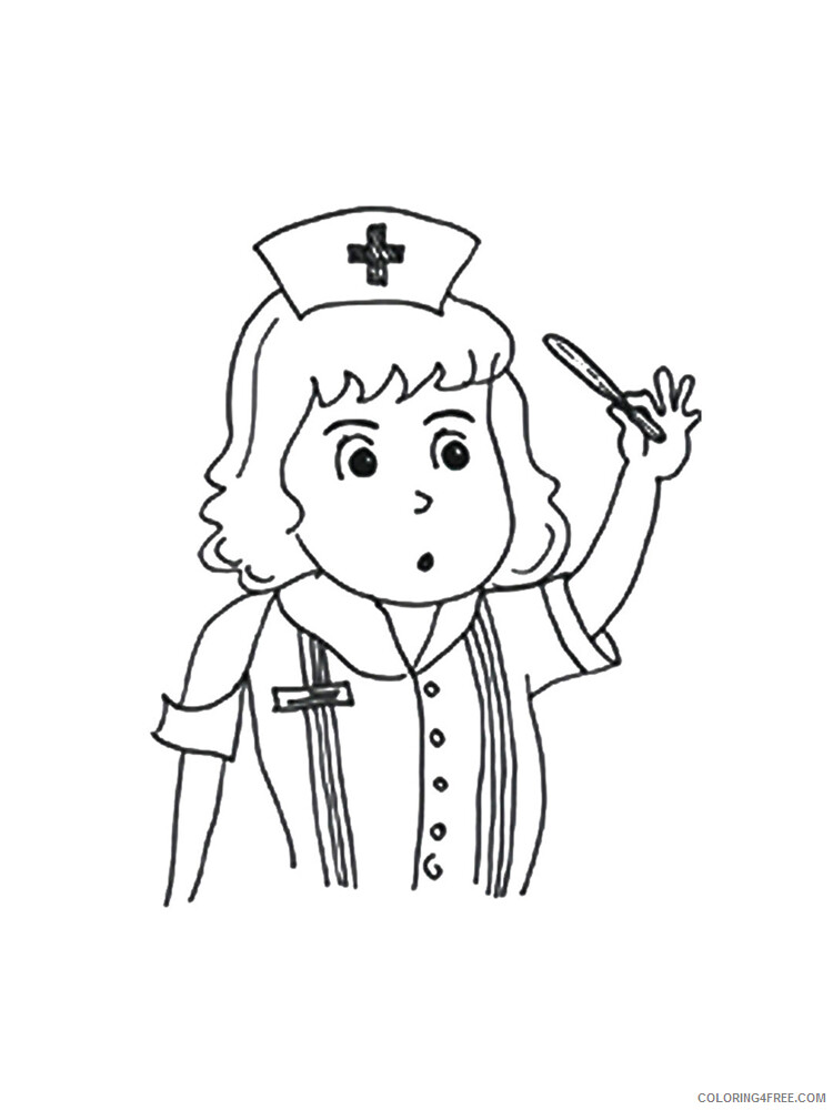 Nurse Coloring Pages for Kids Nurse 12 Printable 2021 486 Coloring4free