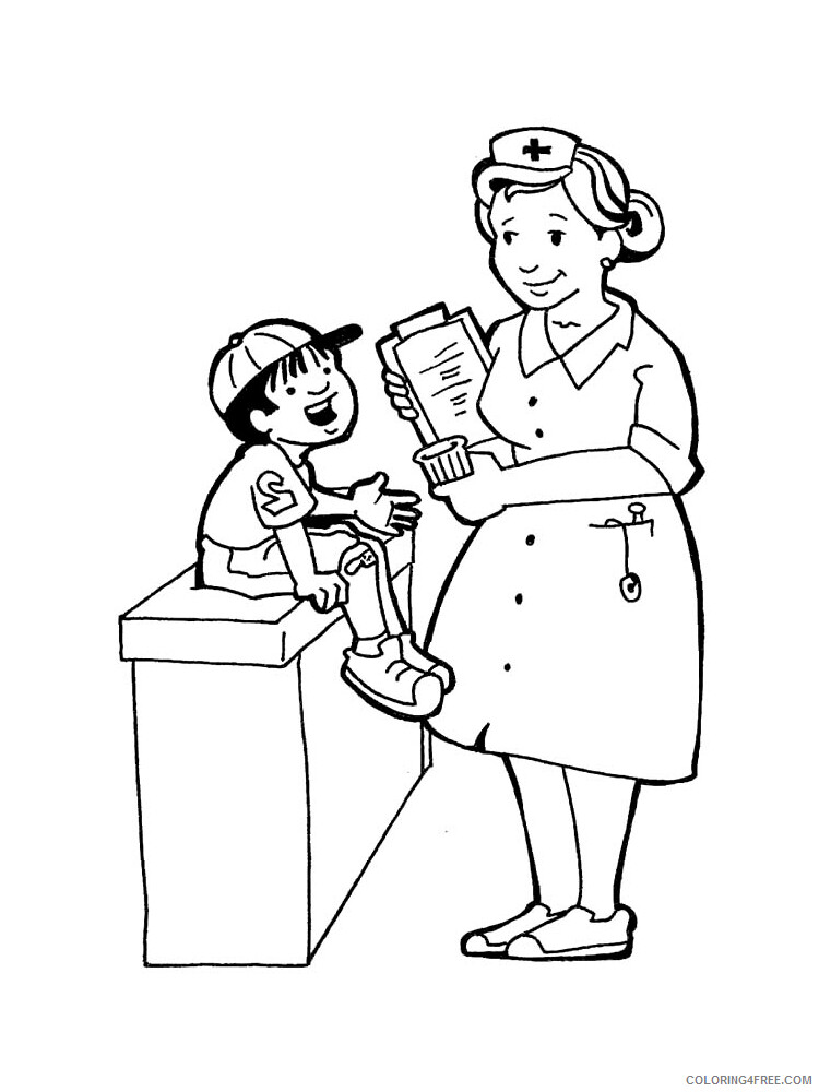 Nurse Coloring Pages for Kids Nurse 4 Printable 2021 488 Coloring4free