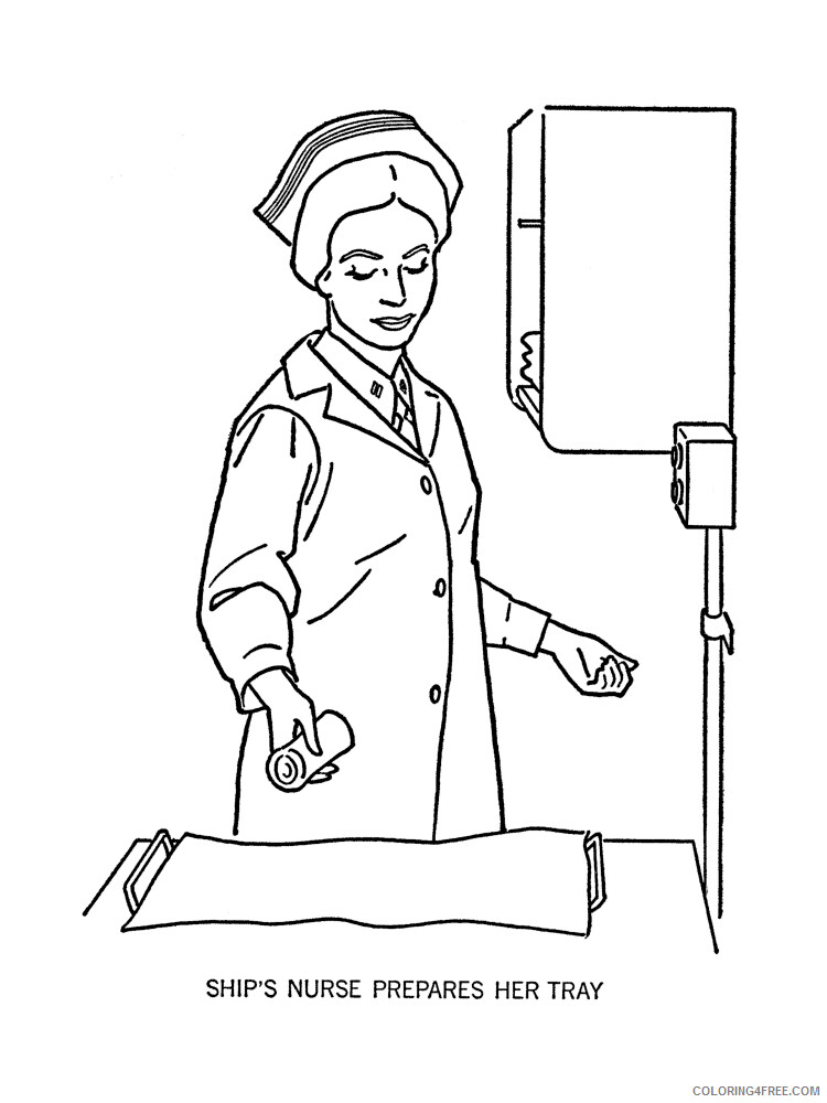 Nurse Coloring Pages for Kids Nurse 5 Printable 2021 489 Coloring4free