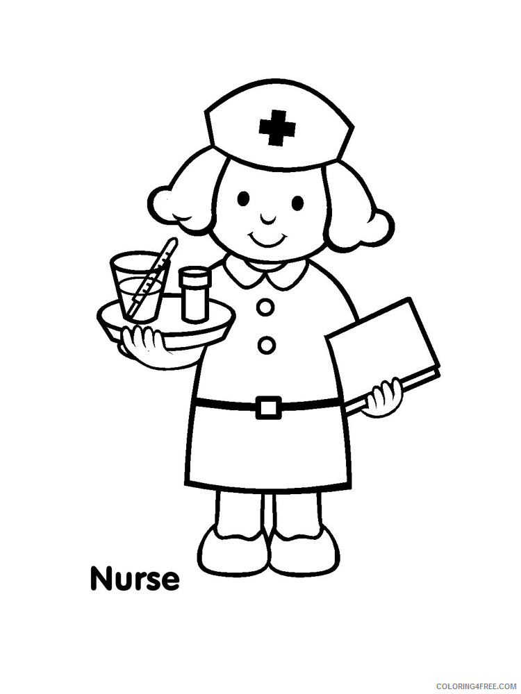 Nurse Coloring Pages for Kids Nurse 7 Printable 2021 491 Coloring4free