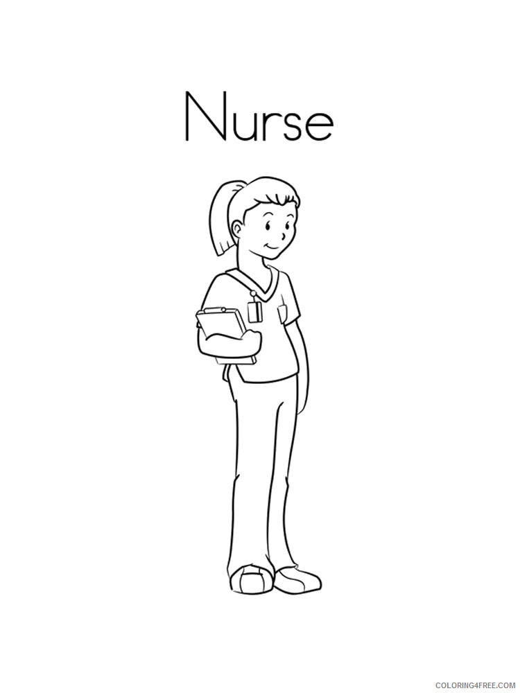 Nurse Coloring Pages for Kids Nurse 9 Printable 2021 493 Coloring4free
