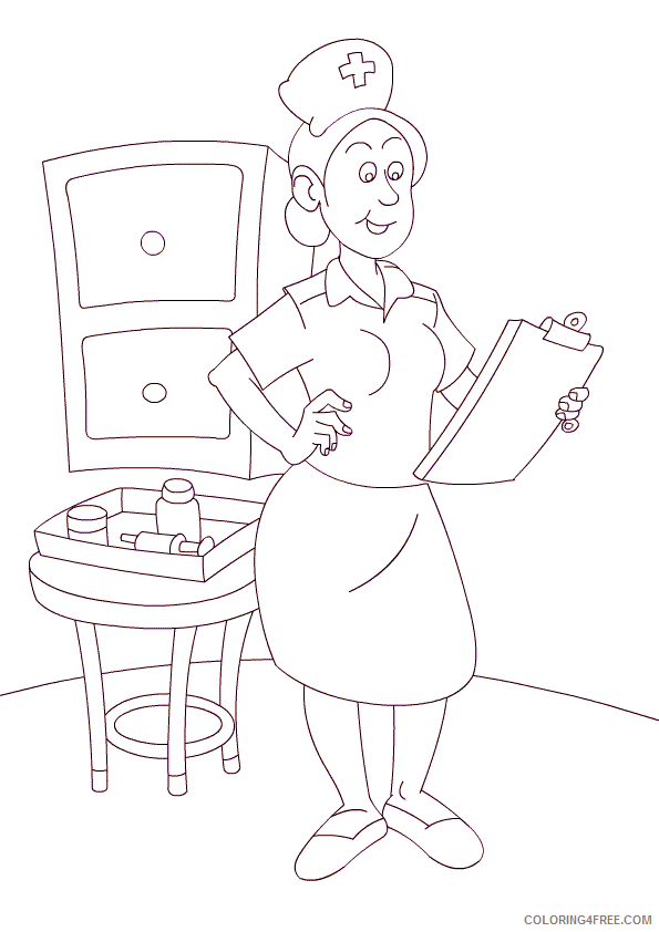 Nurse Coloring Pages for Kids Nurses Printable 2021 495 Coloring4free