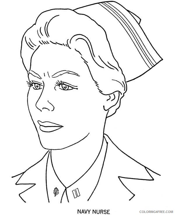 Nurse Coloring Pages for Kids Picture of Navy Nurse in Armed Forces Day 2021 Coloring4free