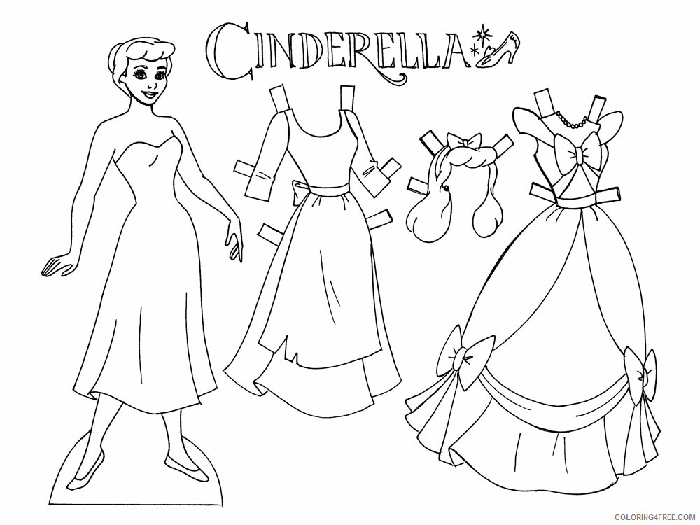 Paper Dolls Coloring Pages For Girls Paper Dolls 10 Printable 2021 0965 Coloring4free Coloring4free Com
