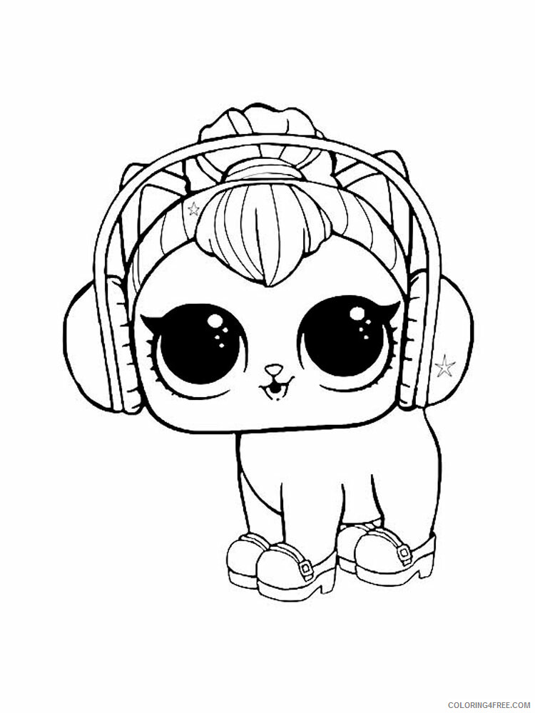Pets Lol Coloring Pages For Girls Pets Lol 12 Printable 2021 0993 Coloring4free Coloring4free Com