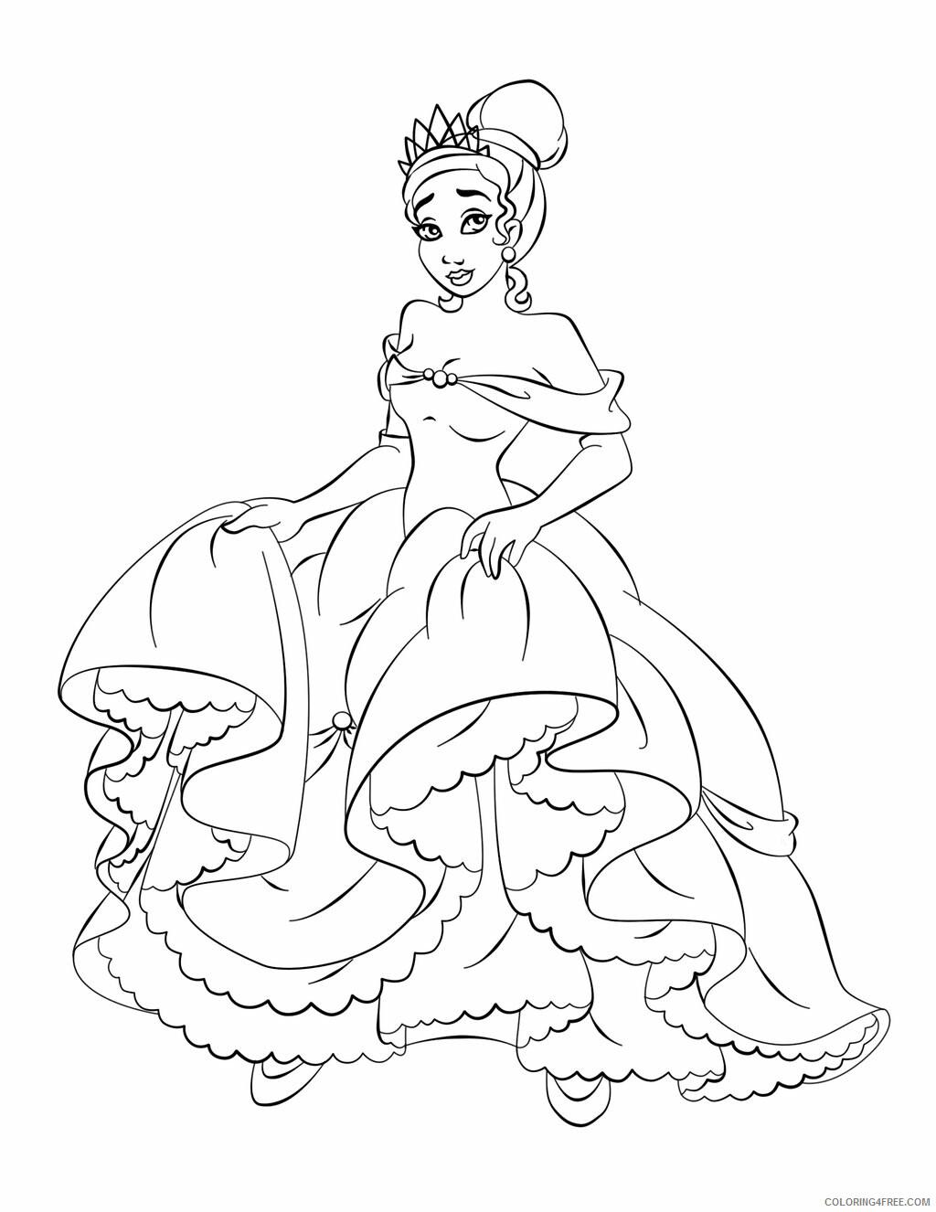 Princess Coloring Pages for Girls Print Free Princess Printable ...