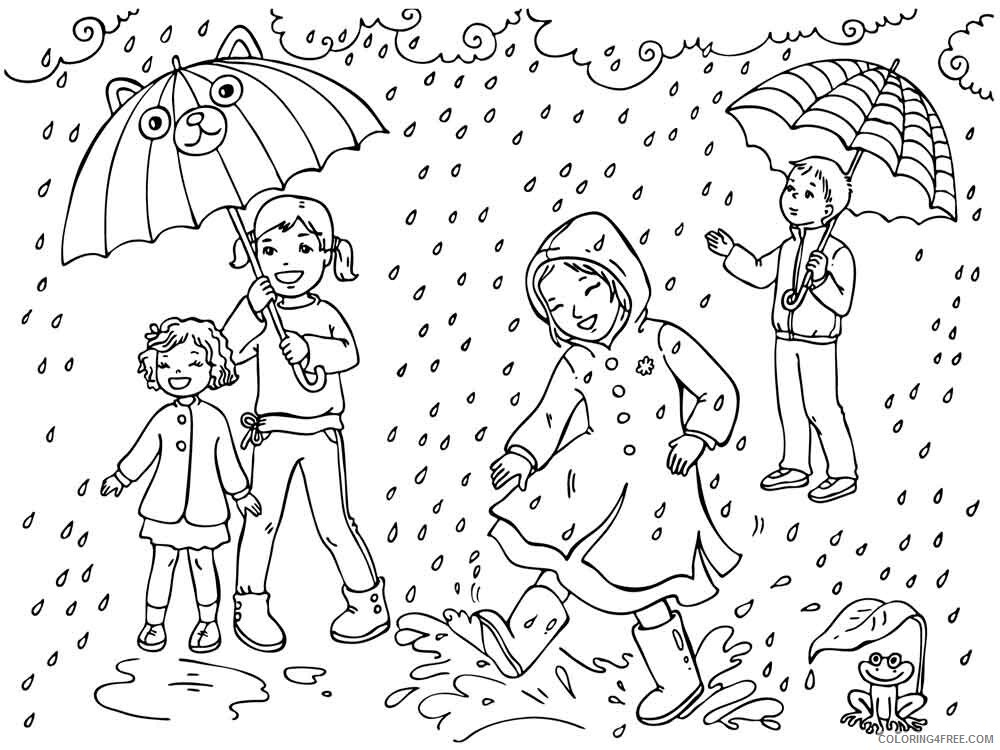 Rainy Day Coloring Pages for Kids Rainy day 16 Printable 2021 505 Coloring4free