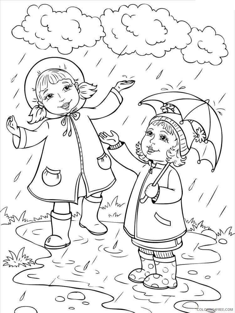 Rainy Day Coloring Pages for Kids Rainy day 4 Printable 2021 506 Coloring4free