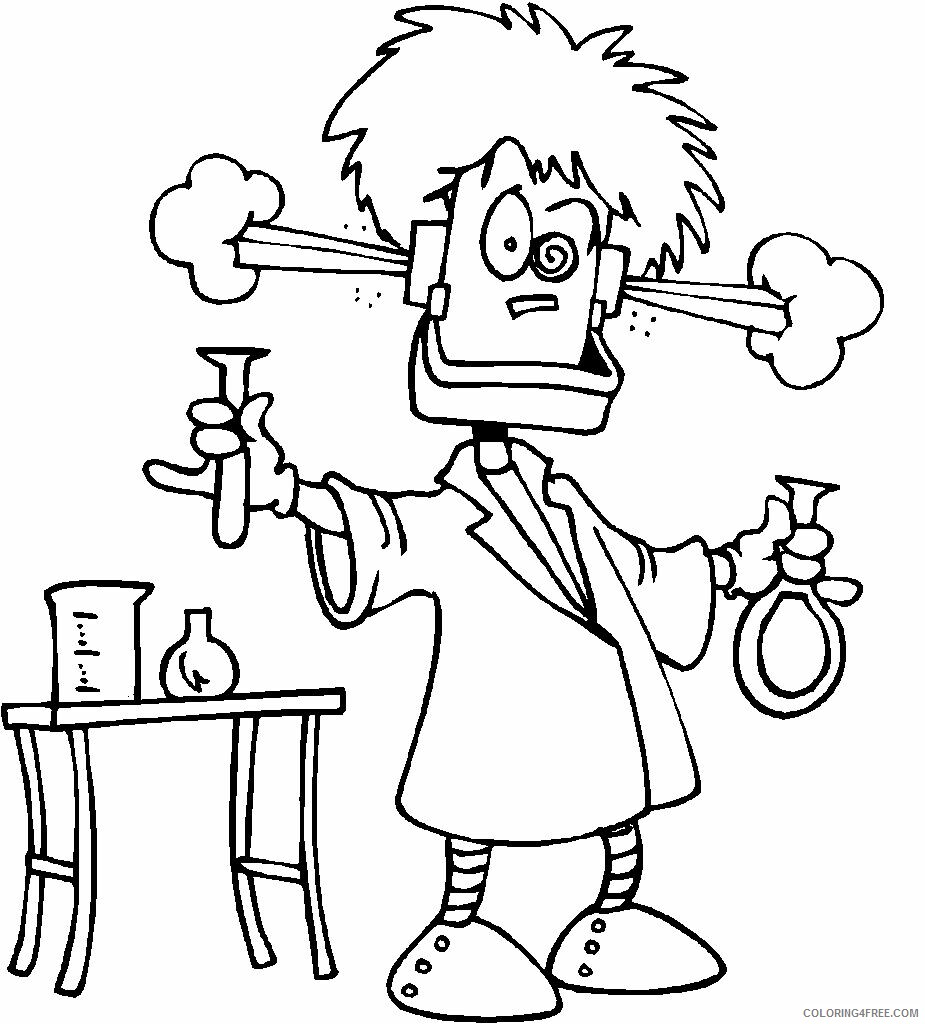 Scientist Coloring Pages for Kids Mad Scientist Printable 2021 512 Coloring4free