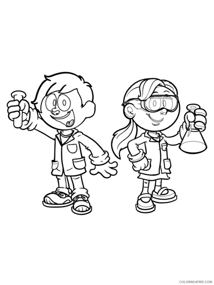 Scientist Coloring Pages for Kids Scientist 1 Printable 2021 513 Coloring4free