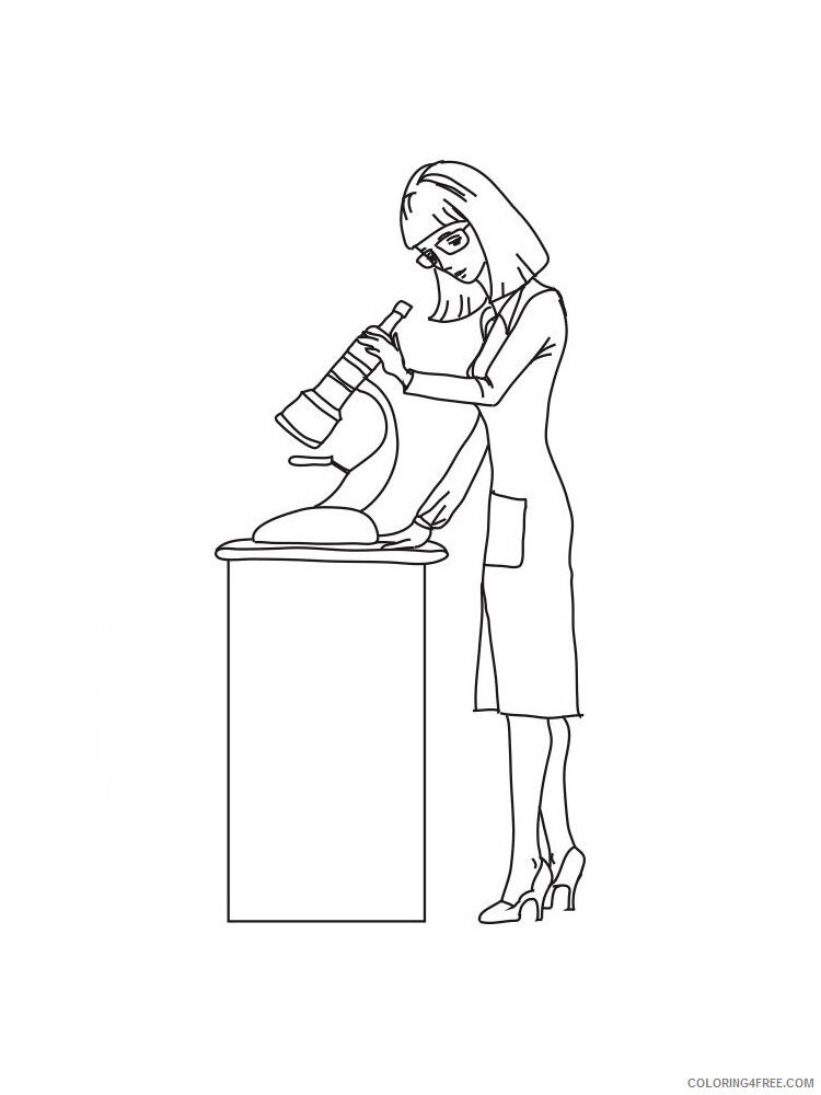 Scientist Coloring Pages for Kids Scientist 11 Printable 2021 515 Coloring4free