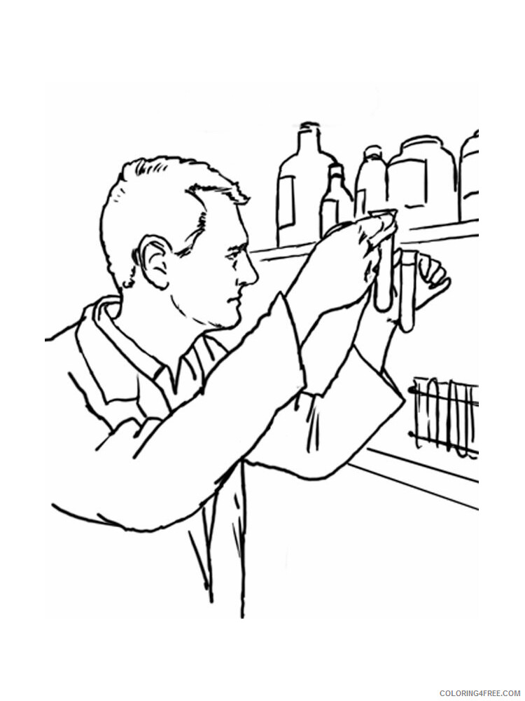 Scientist Coloring Pages for Kids Scientist 14 Printable 2021 518 Coloring4free