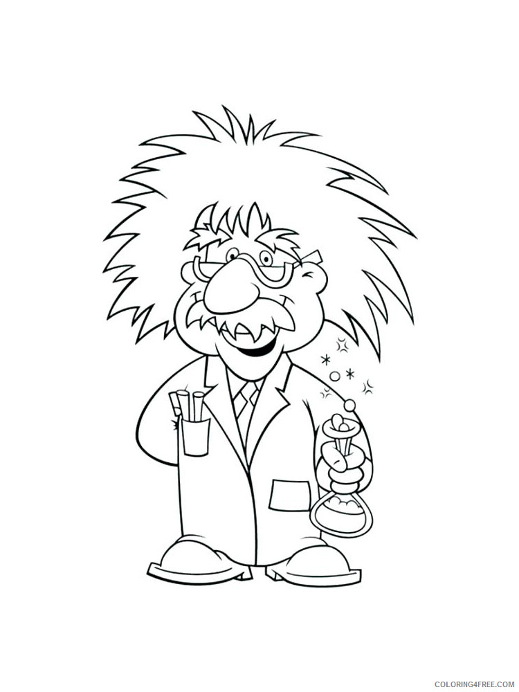 Scientist Coloring Pages for Kids Scientist 9 Printable 2021 524 Coloring4free