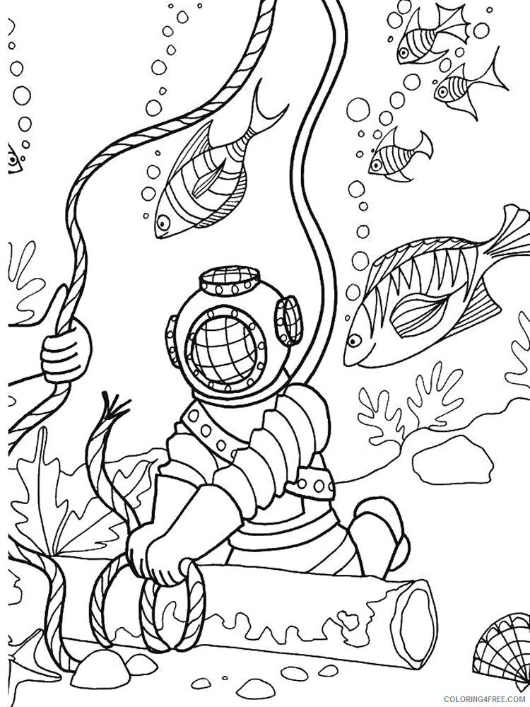 Scuba Diving Coloring Pages for Kids Scuba Diving 12 Printable 2021 533 Coloring4free