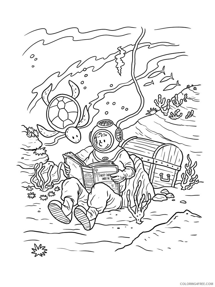 Scuba Diving Coloring Pages for Kids Scuba Diving 6 Printable 2021 539 Coloring4free