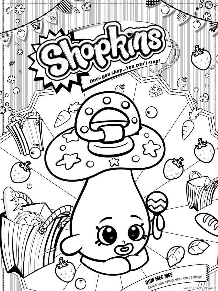 Shopkins Coloring Pages For Girls Shopkins 44 Printable 2021 1290  Coloring4free - Coloring4Free.com