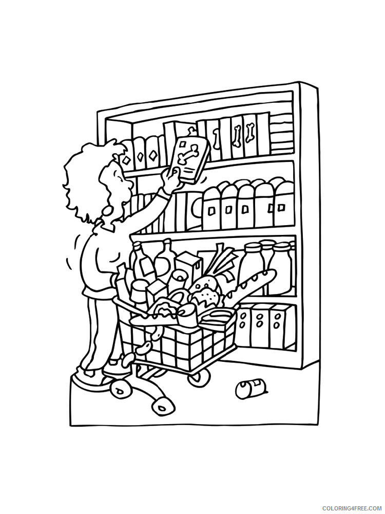 Shopping Coloring Pages for Kids Shopping 15 Printable 2021 546 Coloring4free