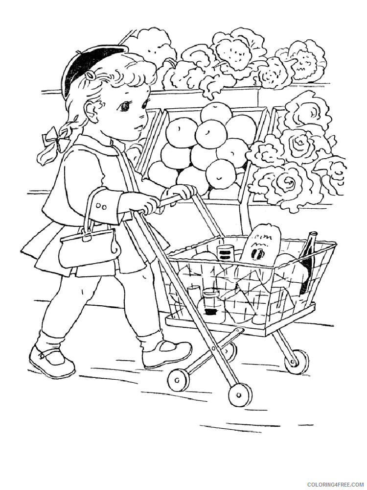 Shopping Coloring Pages for Kids Shopping 7 Printable 2021 553 Coloring4free
