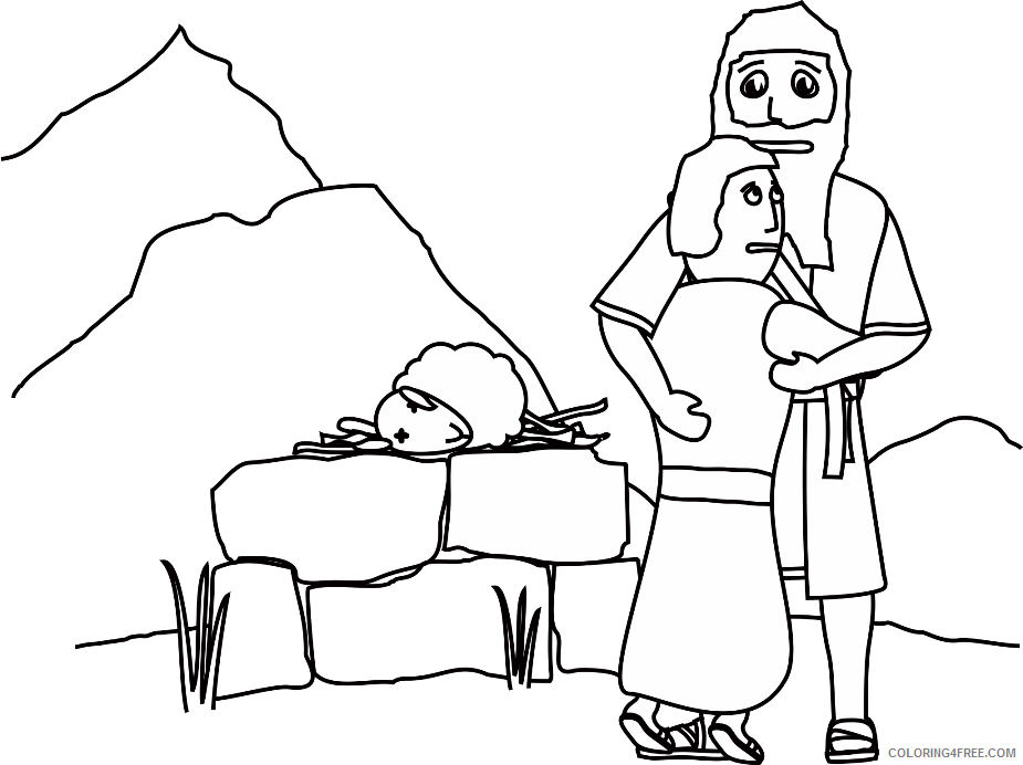 Simple Coloring Pages for Kids Simple Abraham and Sarah Printable 2021 560 Coloring4free