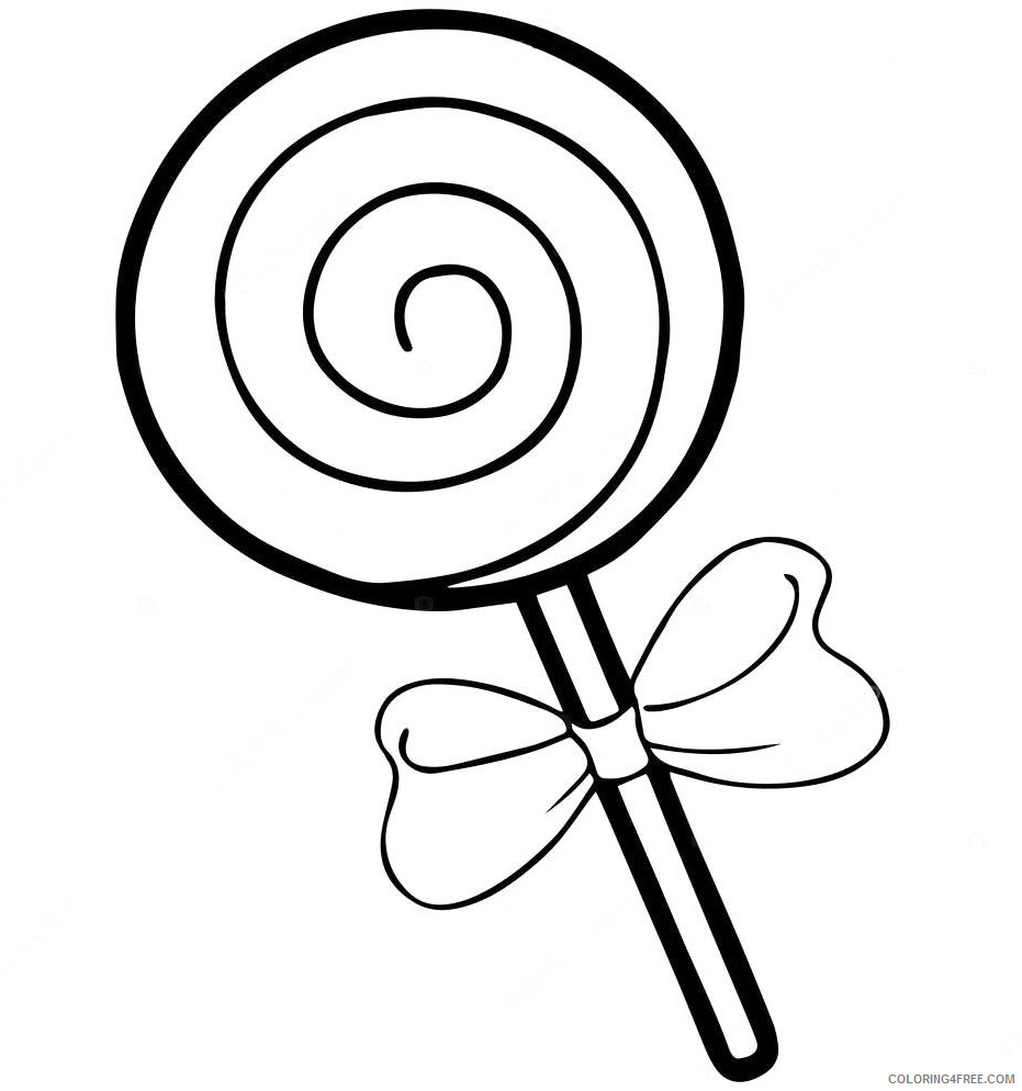 Simple Coloring Pages for Kids Simple Lollipop Printable 2021 594 Coloring4free