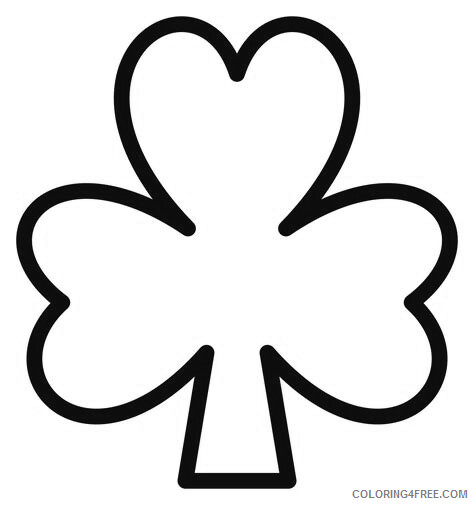 Simple Coloring Pages for Kids Simple Shamrock Printable 2021 601 Coloring4free