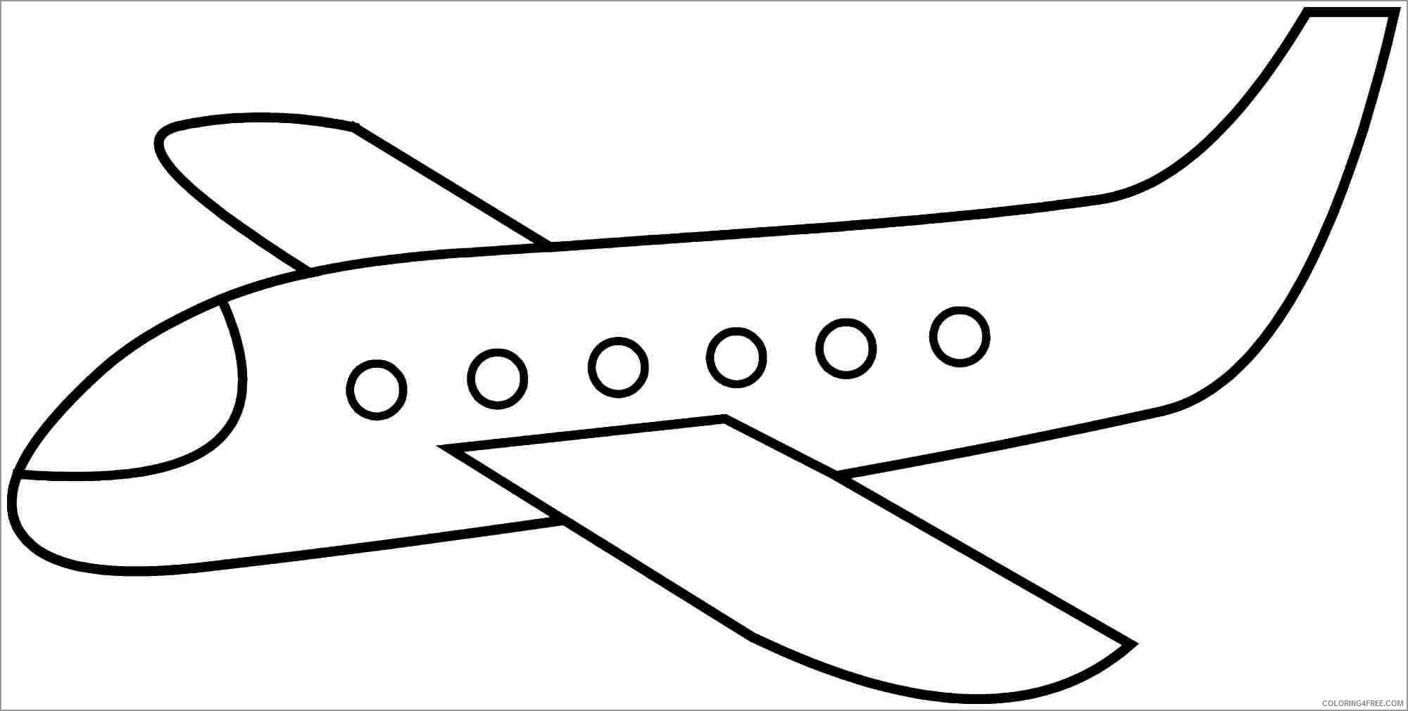 Simple Coloring Pages for Kids simple airplane for kids Printable 2021 561 Coloring4free