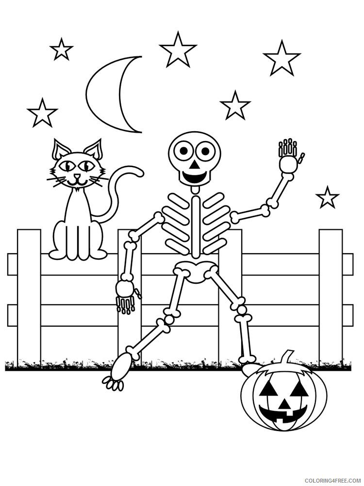 Skeleton Coloring Pages For Kids Skeleton 6 Printable 2021 614  Coloring4free - Coloring4Free.com