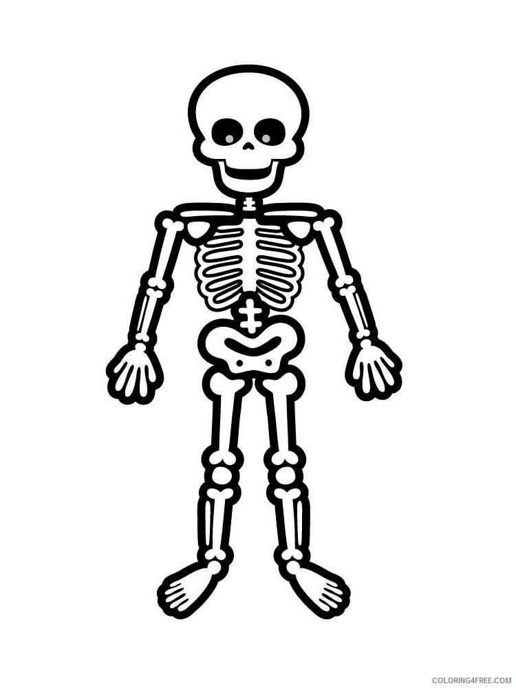 Skeleton Coloring Pages For Kids Skeleton 8 Printable 2021 616  Coloring4free - Coloring4Free.com