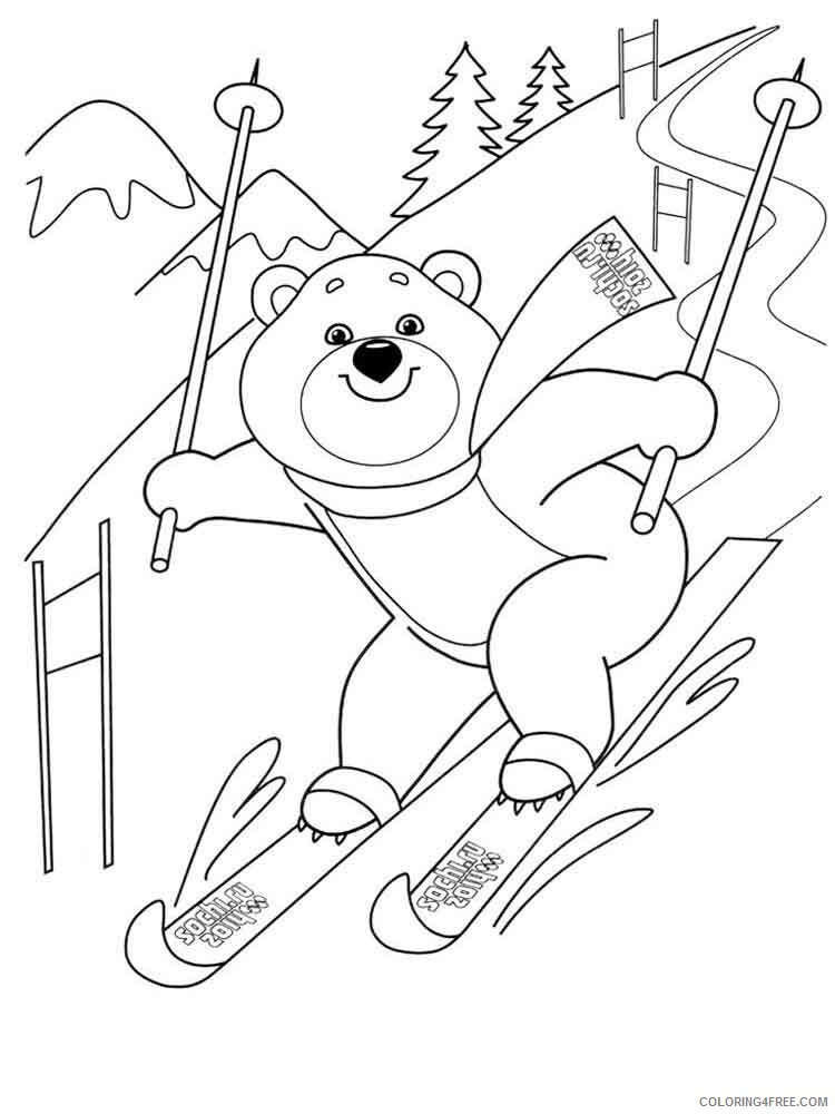 Skiing Coloring Pages for Kids Skiing 3 Printable 2021 630 Coloring4free