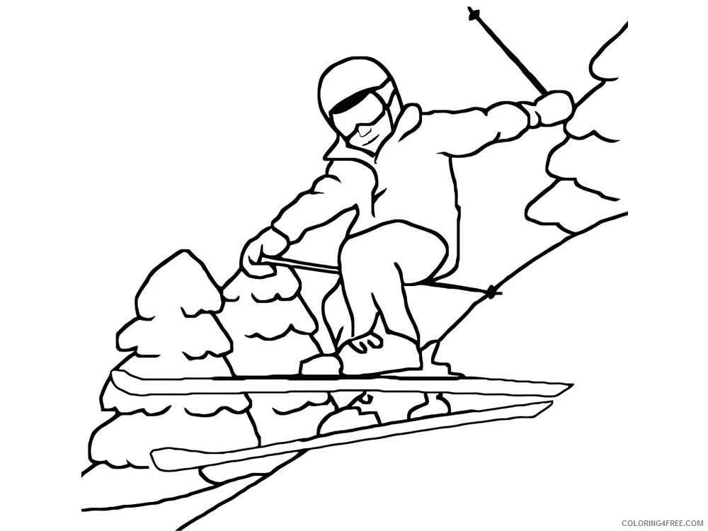 Skiing Coloring Pages for Kids Skiing 5 Printable 2021 631 Coloring4free