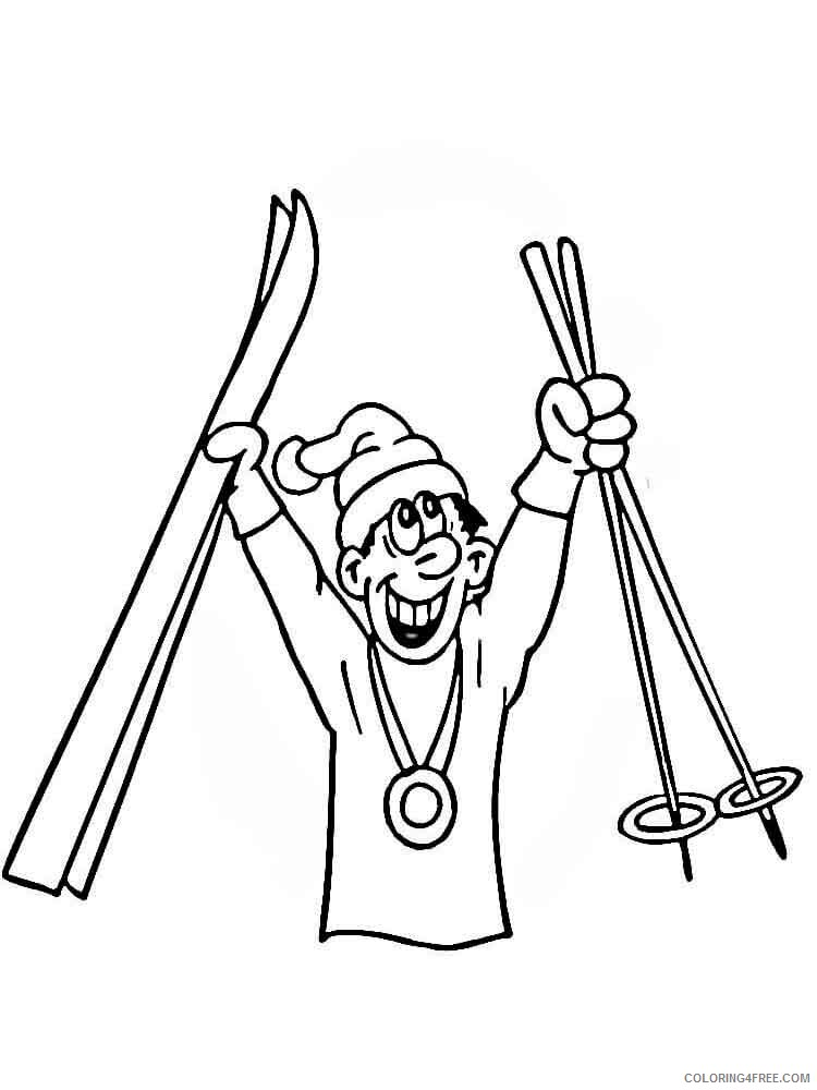 Skiing Coloring Pages for Kids Skiing 7 Printable 2021 632 Coloring4free