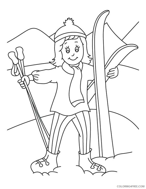 Skiing Coloring Pages for Kids Skiing December Printable 2021 634 Coloring4free