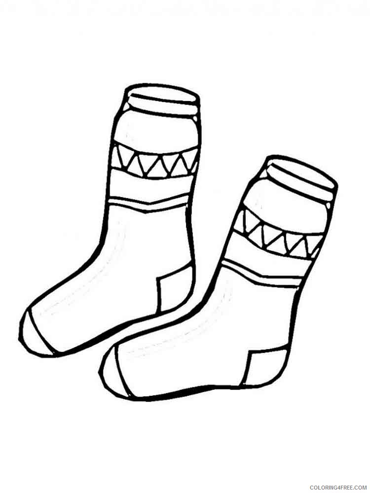Socks Coloring Pages for Kids socks 4 Printable 2021 639 Coloring4free