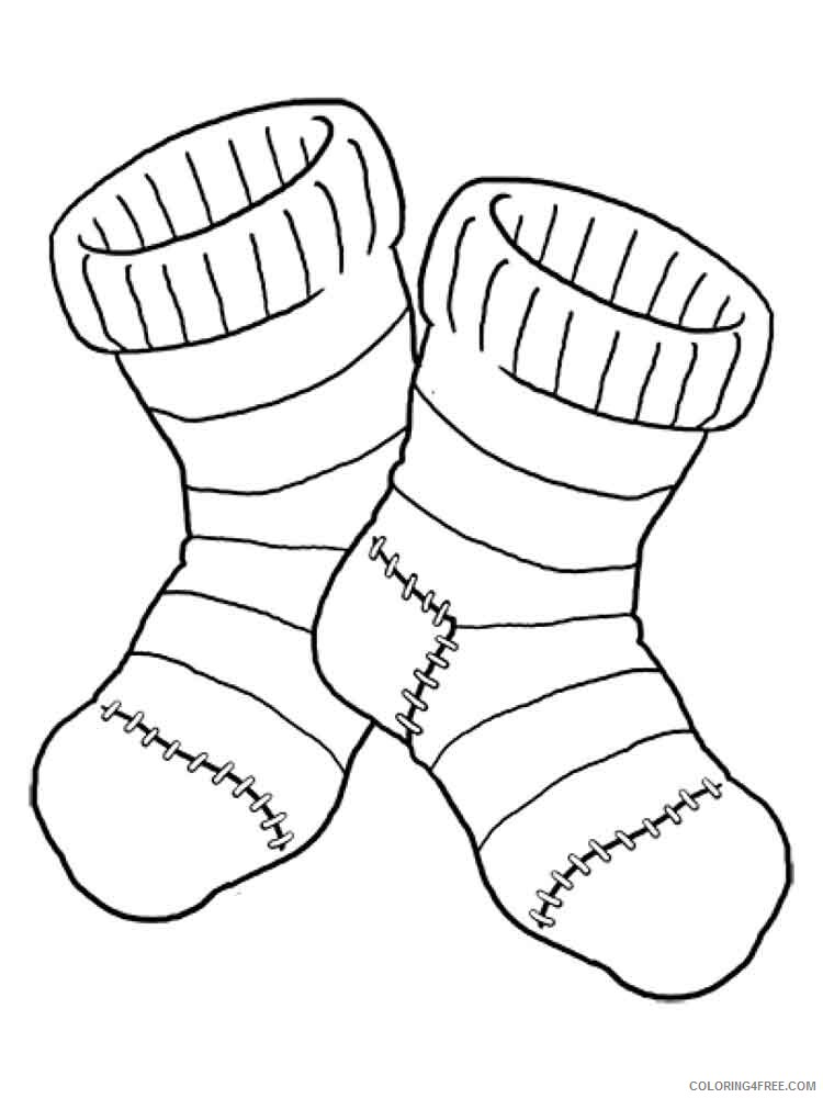 Socks Coloring Pages for Kids socks 6 Printable 2021 641 Coloring4free