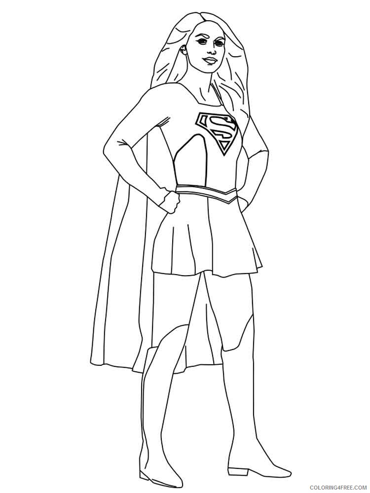 Supergirl Coloring Pages For Girls Supergirl 11 Printable 2021 1329  Coloring4free - Coloring4Free.com