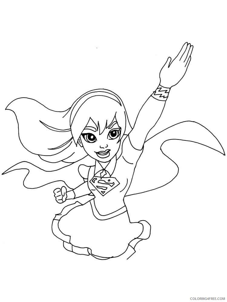 Supergirl Coloring Pages For Girls Supergirl 14 Printable 2021 1332  Coloring4free - Coloring4Free.com