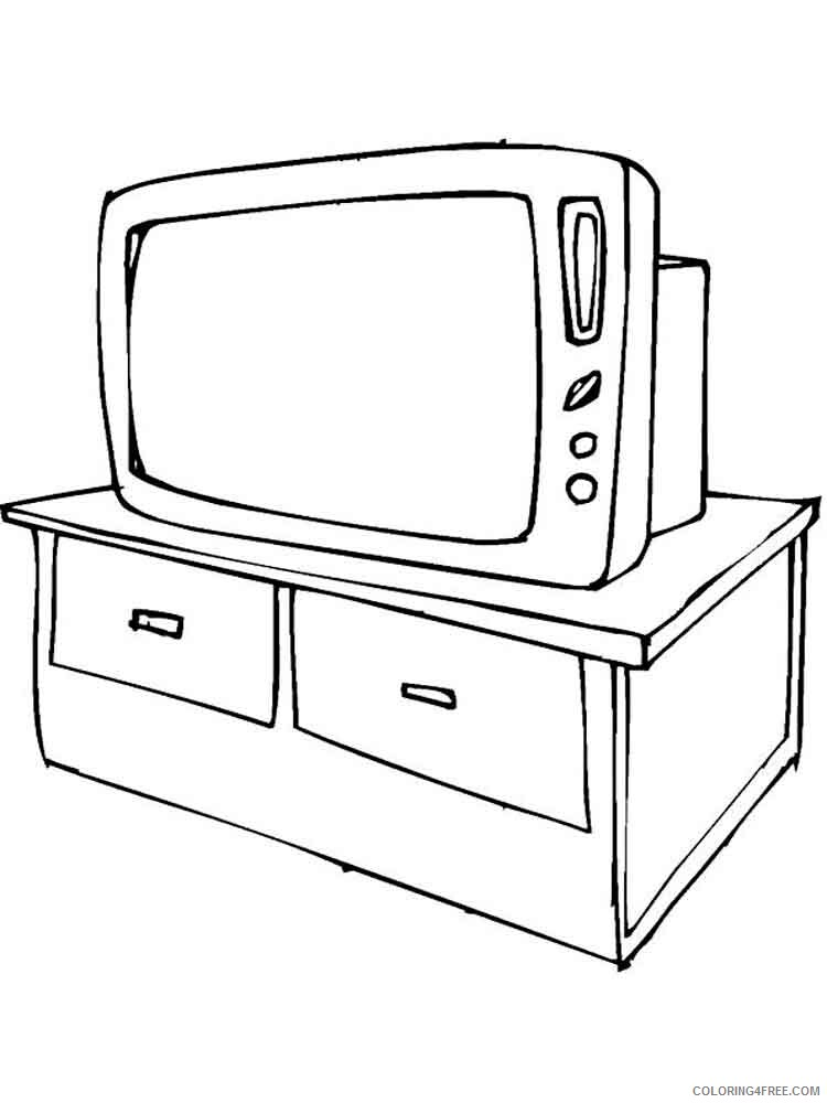 TV Coloring Pages for Kids TV 9 Printable 2021 718 Coloring4free