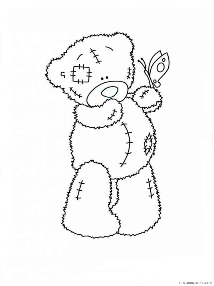 Teddy Bears Coloring Pages for Girls teddy bears 6 Printable 2021 1363 Coloring4free