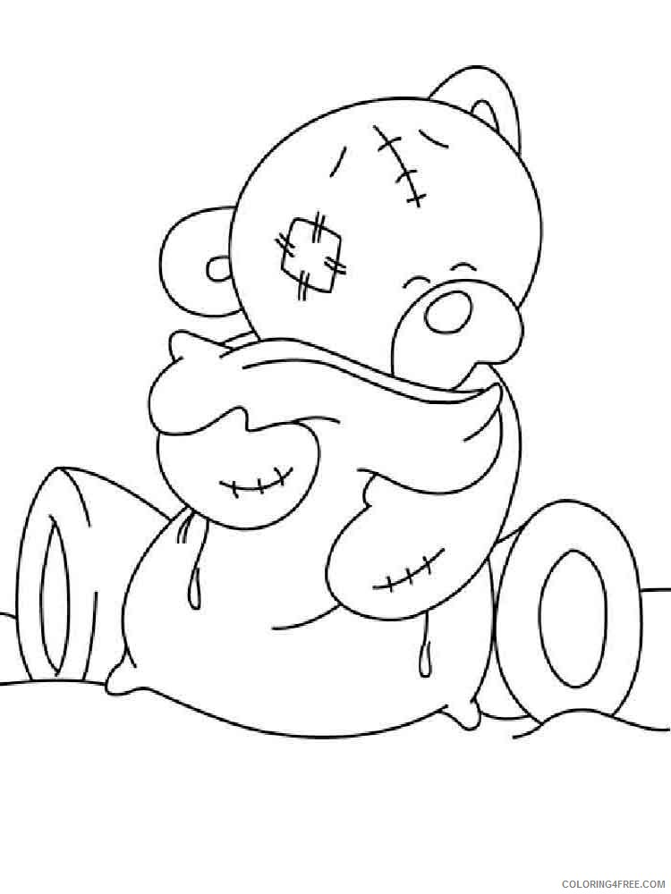 Teddy Bears Coloring Pages for Girls teddy bears 8 Printable 2021 1365 Coloring4free
