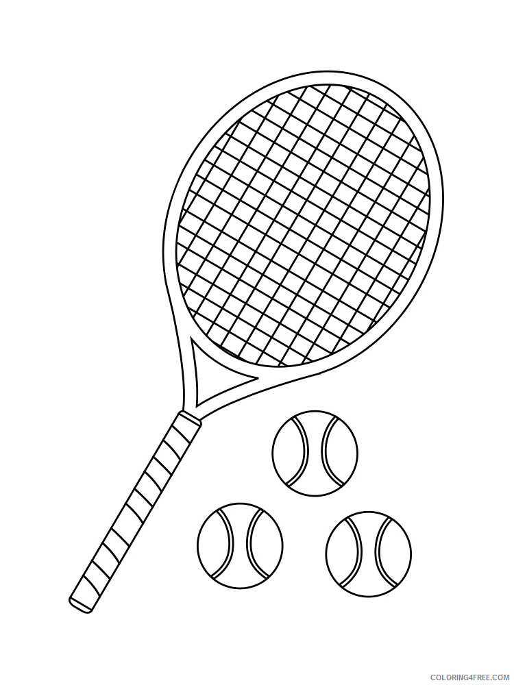 Tennis Coloring Pages for Kids Tennis 10 Printable 2021 654 Coloring4free