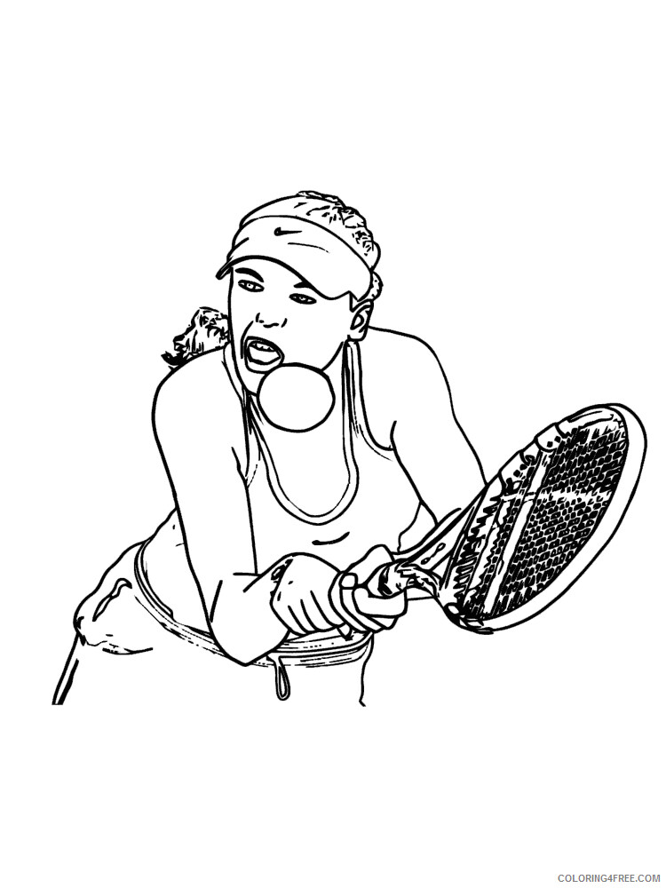 Tennis Coloring Pages for Kids Tennis 13 Printable 2021 655 Coloring4free