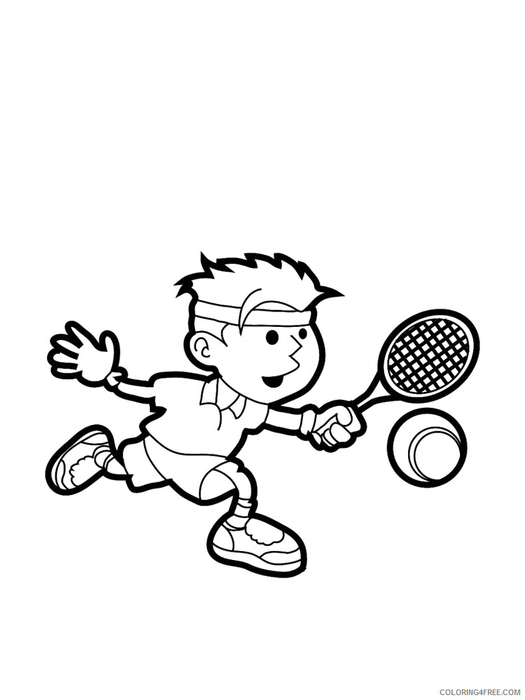 Tennis Coloring Pages for Kids Tennis 2 Printable 2021 661 Coloring4free