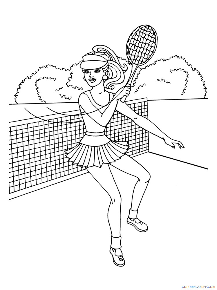 Tennis Coloring Pages for Kids Tennis 6 Printable 2021 666 Coloring4free